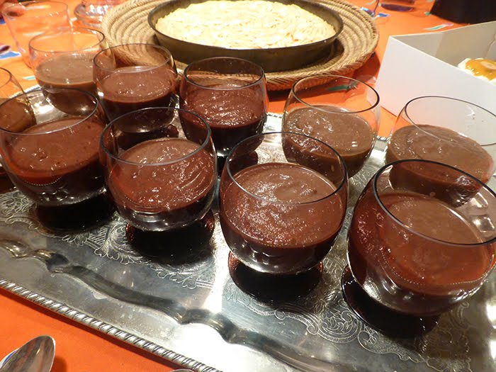 Pere, gelato al cioccolato, zenzero, cannella