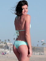 Courtney Robertson strikes a pose in a bikini