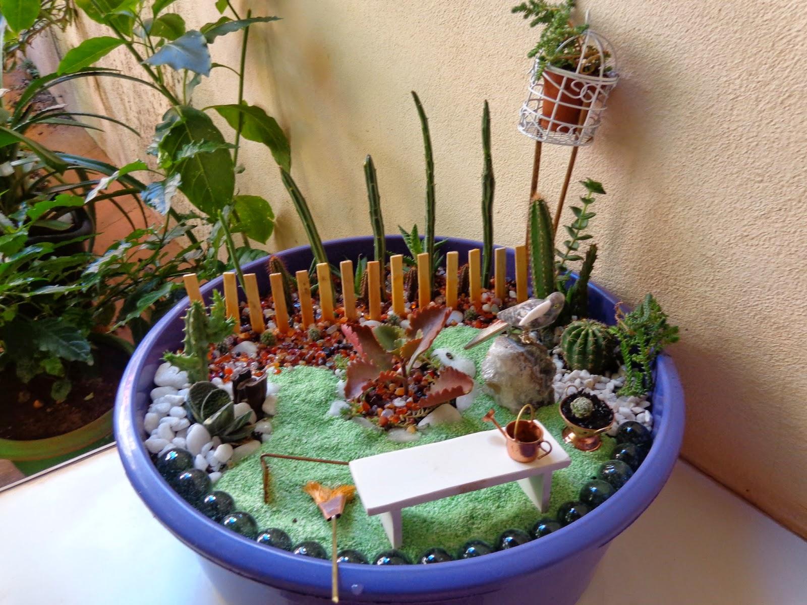 artesanato mini jardim:Mais um mini-jardim de cactos e suculentas pra inspirar – Diário de