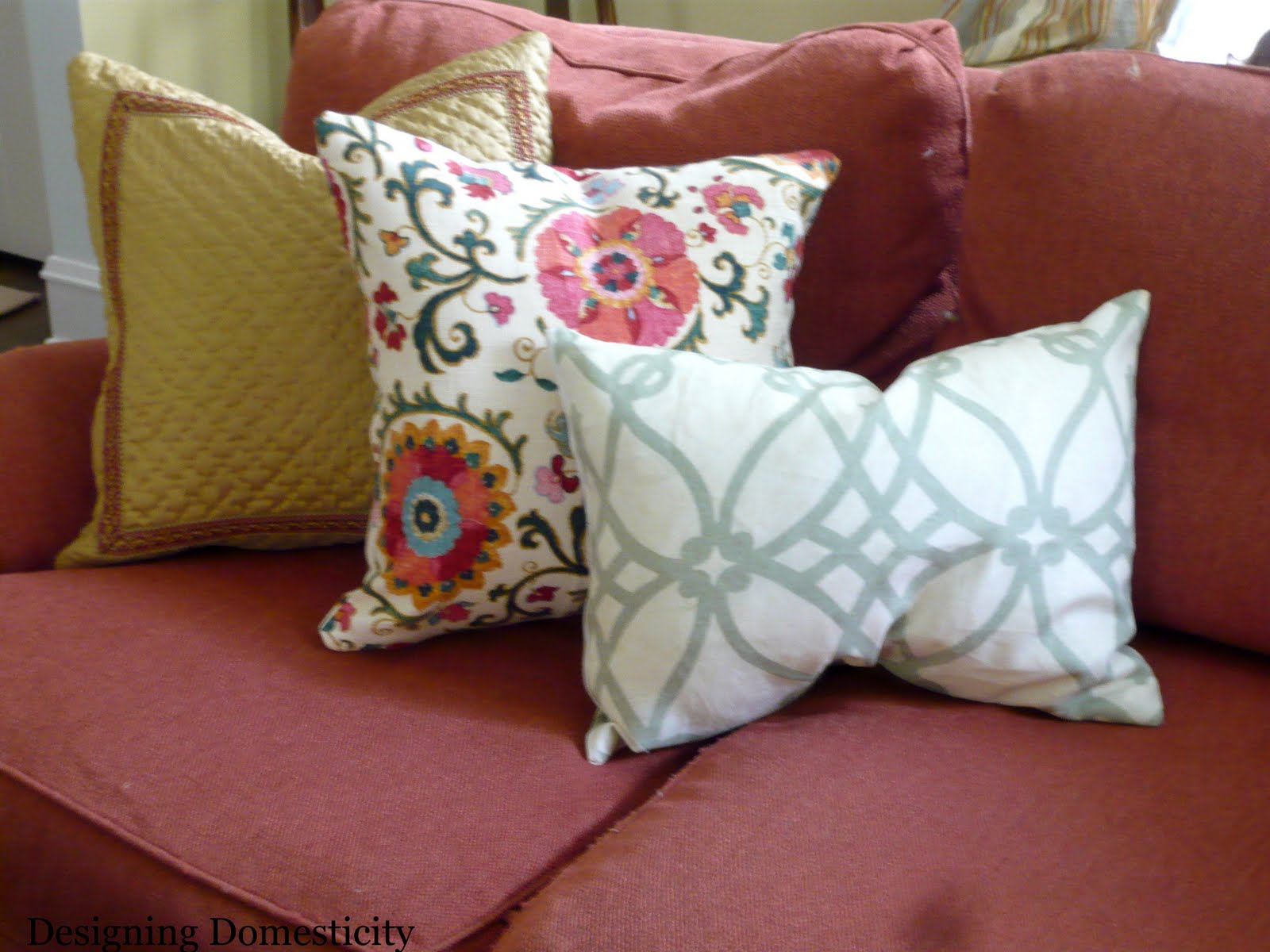 Designing Domesticity They 39 Re Here New Living Room Pillows