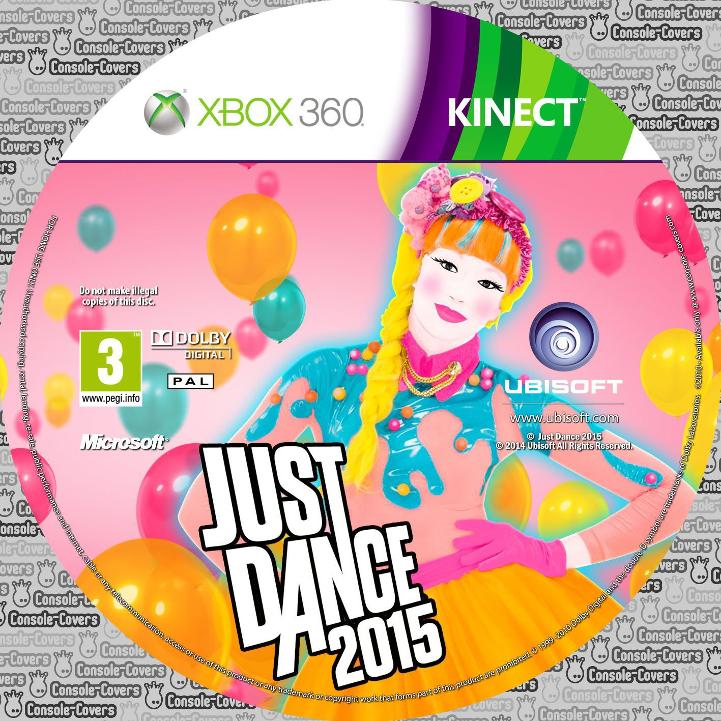 Label Just Dance 2015 Xbox 360