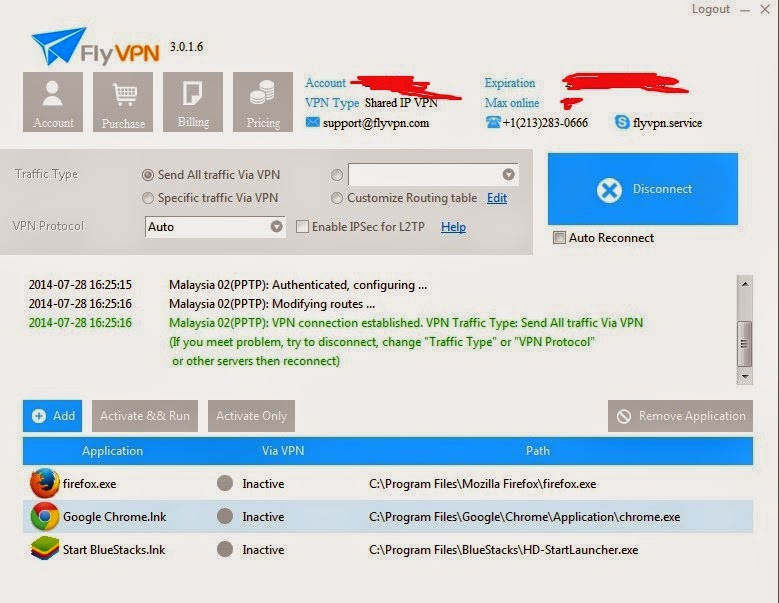 Connect To FlyVPN Malaysia VPN To Play KUF2 SEA server