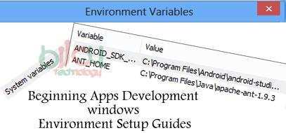 Beginning Apps Development windows Environment Setup Guides 1