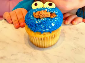 cookie monster cupcake for kids