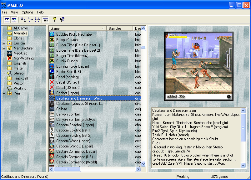 Download Mame32 All Games For PC Full Version