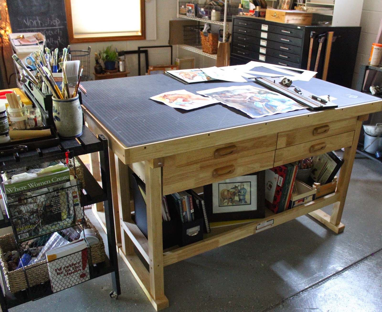Merveilleux My Matting Workbench In My Art Studio
