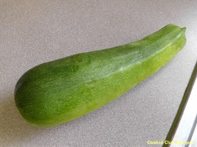 washed zucchini