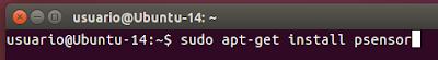 sudo apt-get install psensor