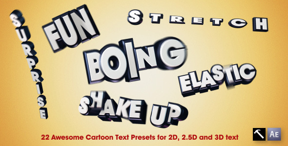 VideoHive 22 Awesome Cartoon Text Presets