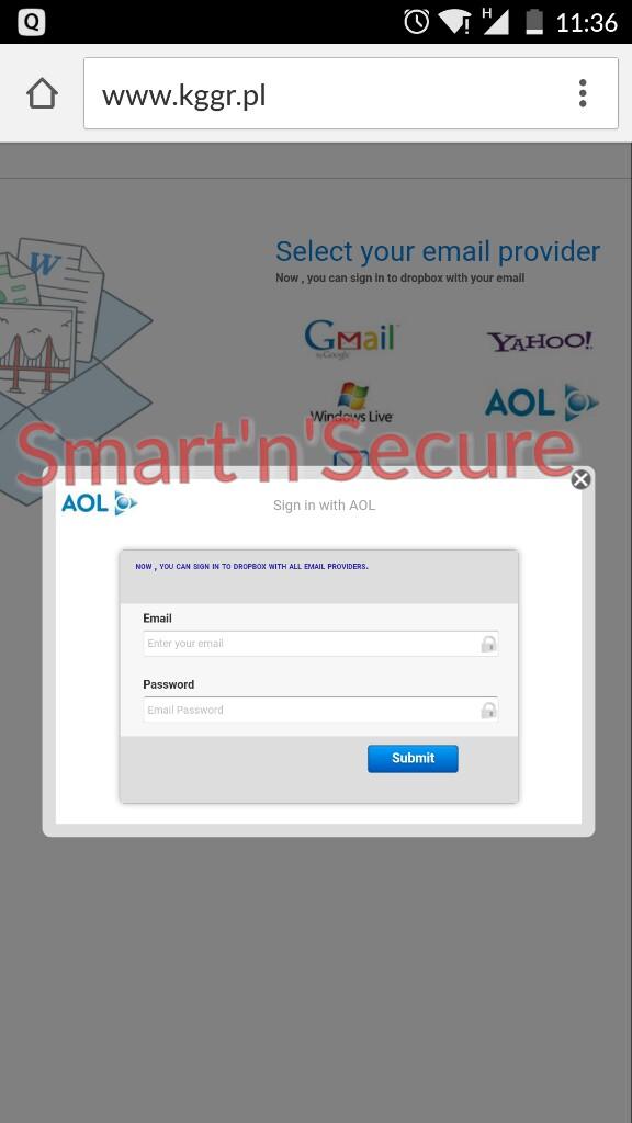 Email Phishing Fraud Gmail Yahoo Windows Live Aol Digi Aware