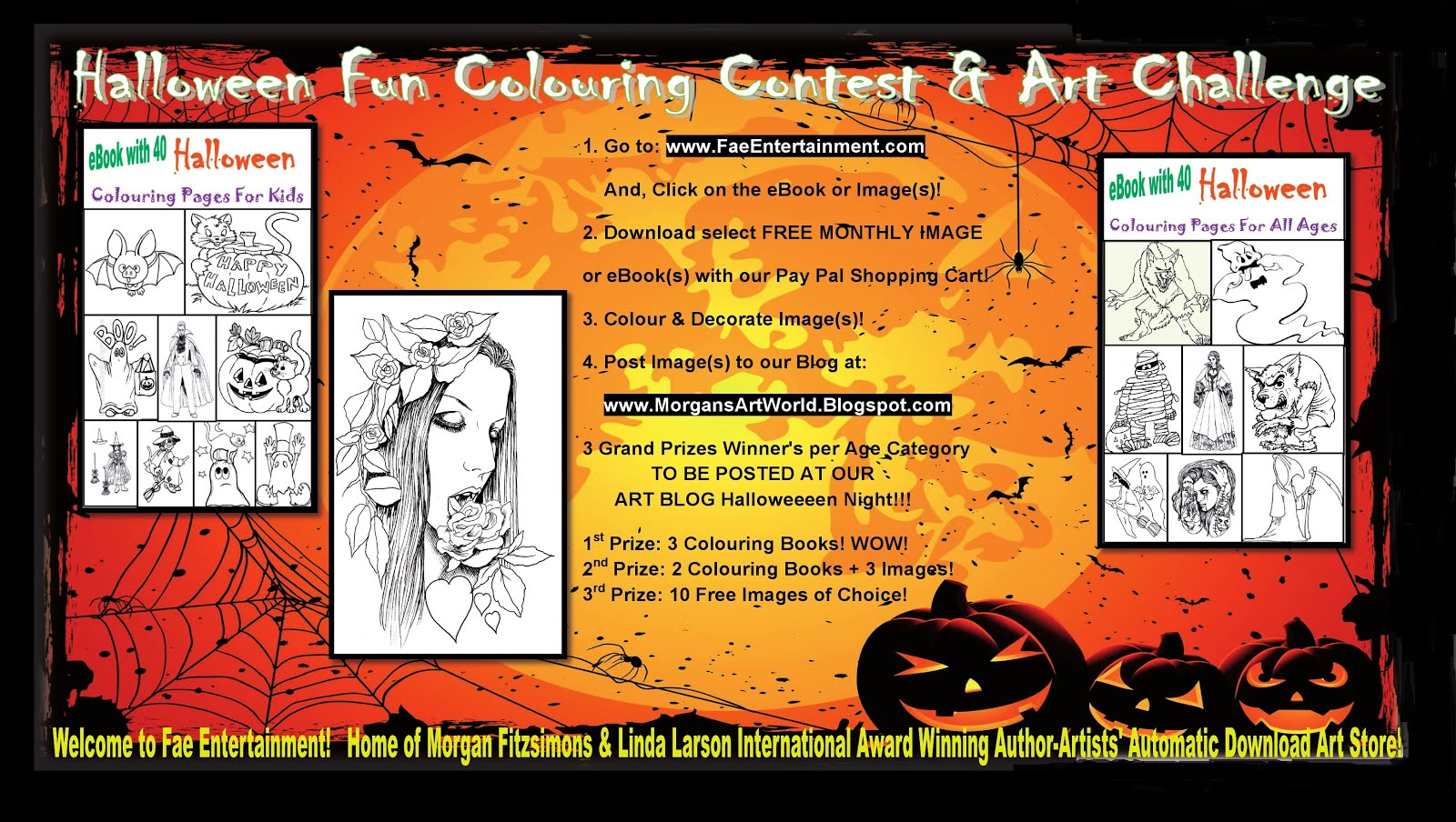 halloween coloring competition - Halloween Coloring Contest 3