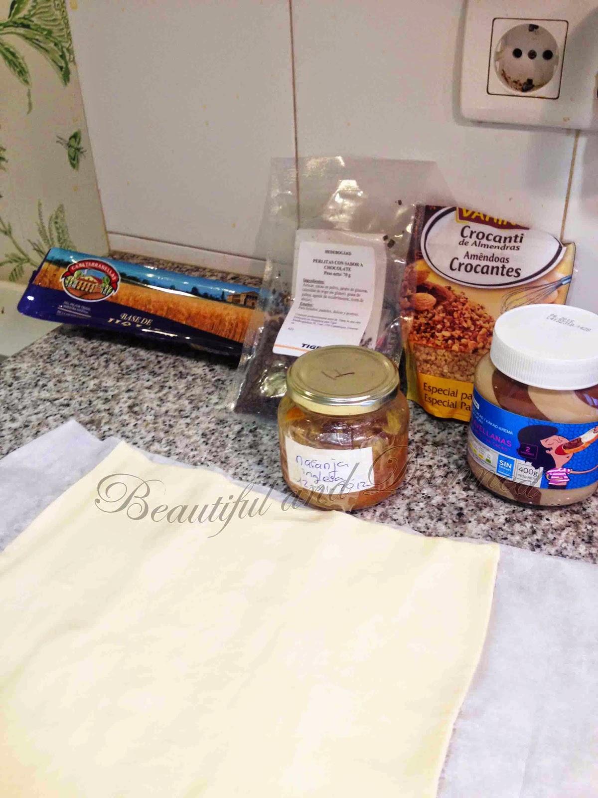 Ingredientes para napolitanas de chocolate
