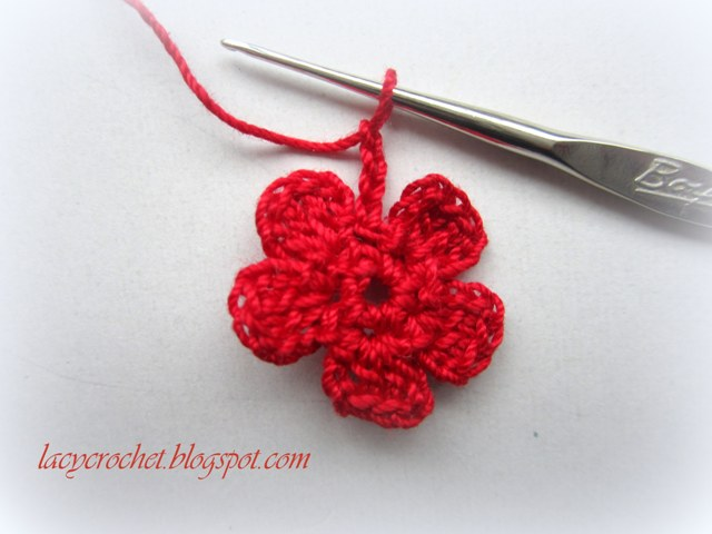 How To Crochet Flowers Thick Petals Tutorial 44 : Lacy Crochet: Crochet Thread Flower, Photo Tutorial