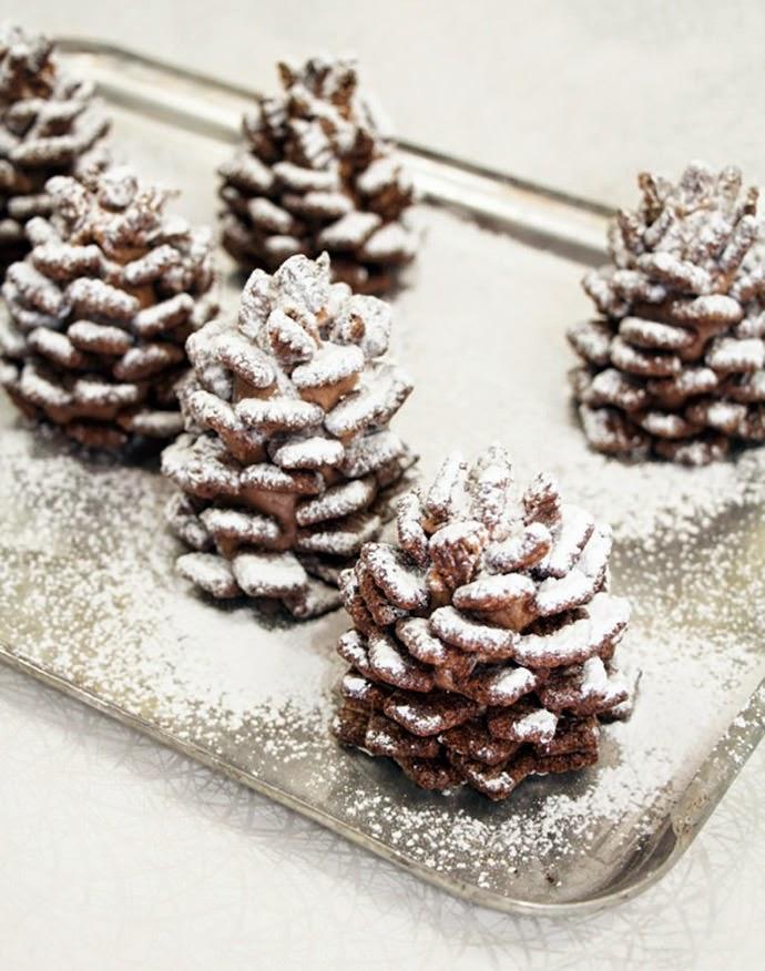 http://www.handmadecharlotte.com/recipe-snowy-pinecone-snacks/