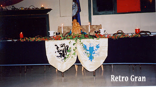Renaissance Themed Wedding Head Table