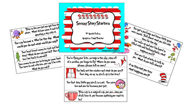 Story starters seuss style freebie 4th grade frolics for Story starter com