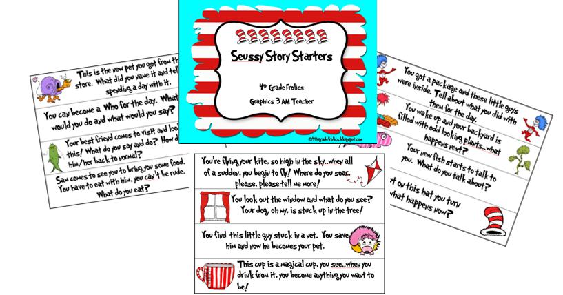 Story Starters Seuss Style Freebie 4th Grade Frolics