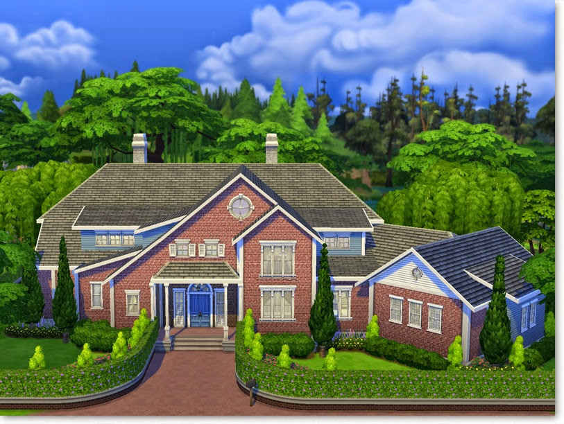 Why plumbobs are green first sims 4 build suburban for Dream house builder
