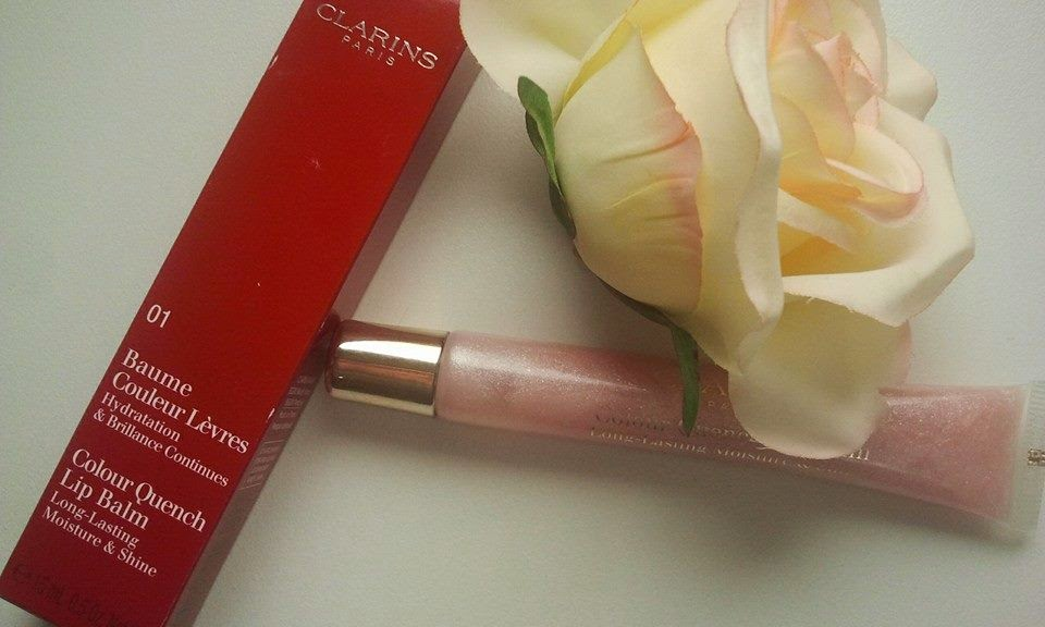 Clarins-Colour-Quench-Lip-Balm-with-a-rose-and-a-box