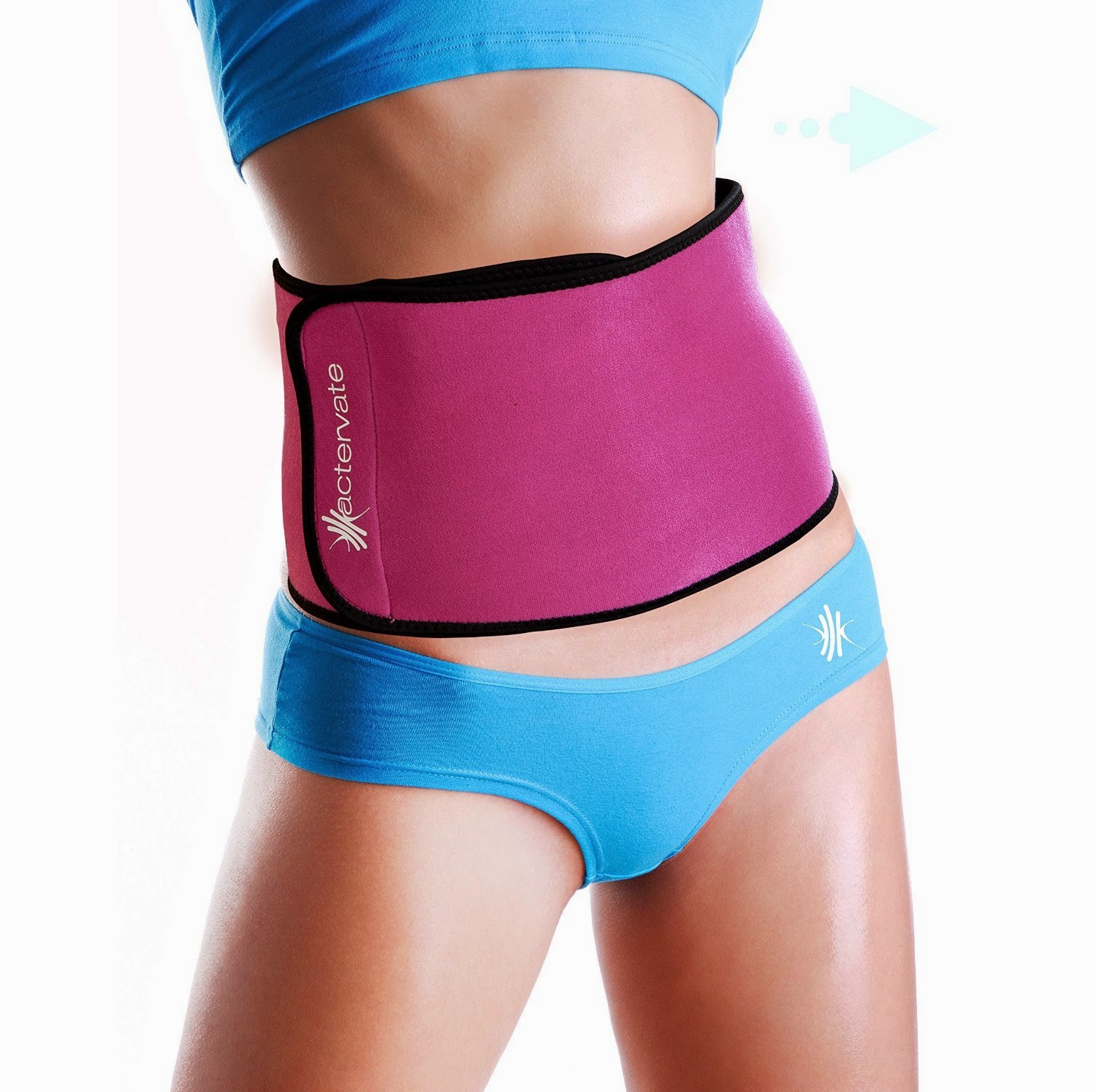 Back WorkoutsActervate - Waist Trimmer Belt, Slimmer Belt and Sweat Belt for Women and Men