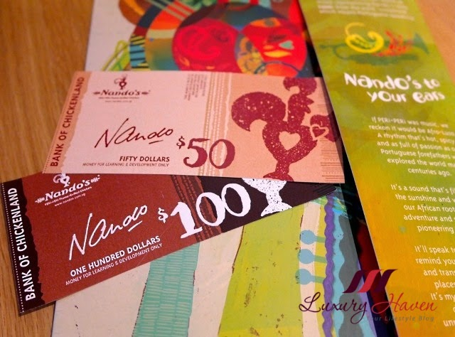 nandos food vouchers
