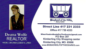 Call Deana Wolfe For All Your Real Estate Needs: