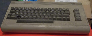 Commodore 64 covered in dust
