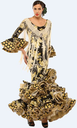 vestido de sevillana estampado El Corte Inglés 2013