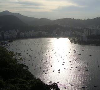Foto com vista de Enseada de Botafogo