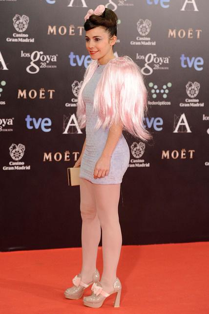 El traje de las pelucas Goyas 2014