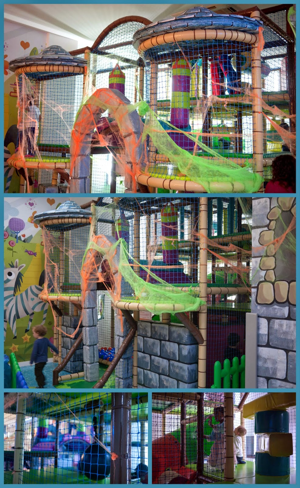 Collage de Imágenes del Castillo de bolas de Little Kingdom