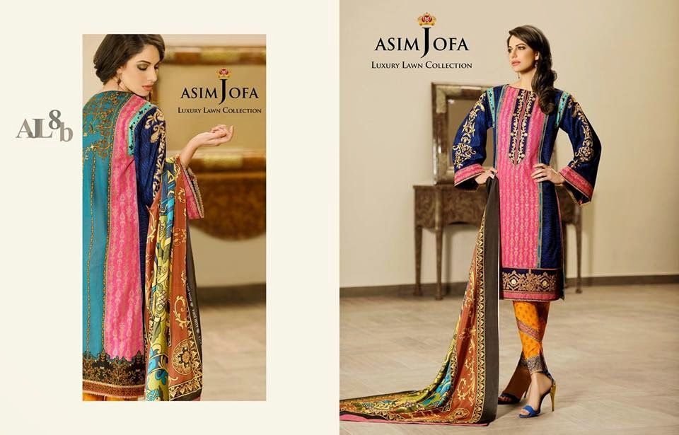 Asim Jofa formal summer lawn collection 2015