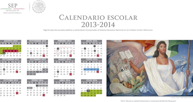 Descargar el calendario escolar de la SEP 2013 - 2014