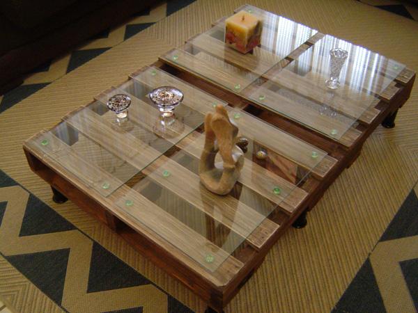 Blog da roca im veis inspira o mesa de centro de palete - Mesa centro palet ...