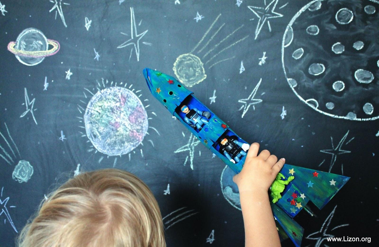 Космонавт в ракете своими руками