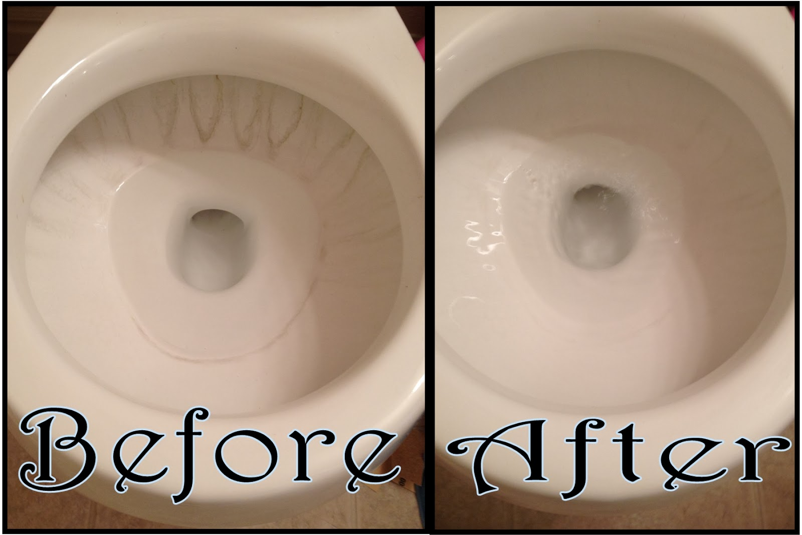 Queen Of Chaos: Toilet Bowl Hard Water Stains Fix