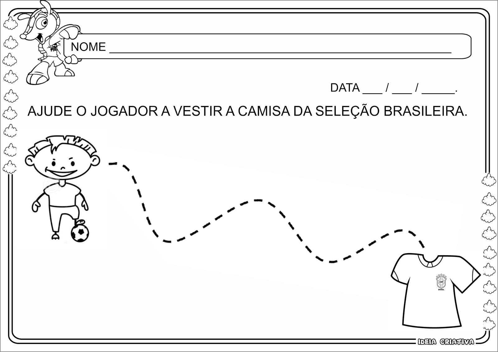 Atividade Coordenação Motora Copa do Mundo Maternalzinho