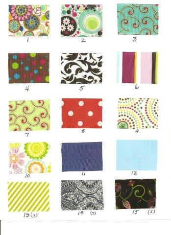 Ribbon choices page 2