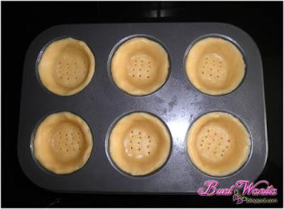 cara buat kulit tart menggunakan loyang muffin