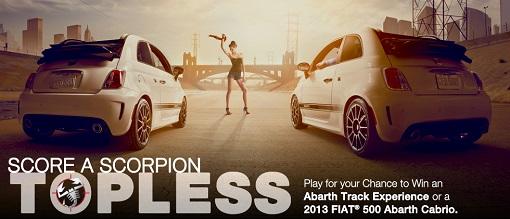 Fiat Score a Scorpion Contest