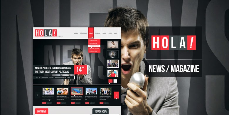 Hola News Magazine PSD Template