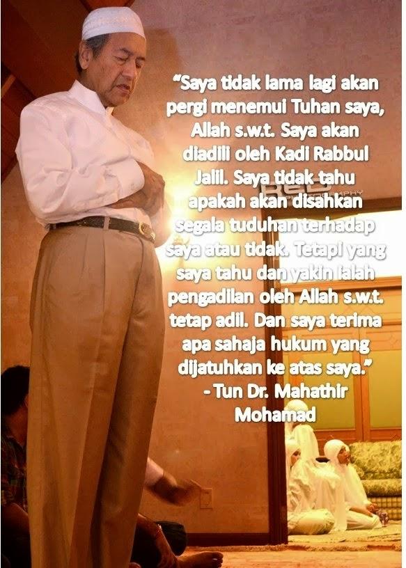 Saya Akan Menemui Tuhan Tak Lama Lagi, Saya Terima Apa Saja Hukuman Allah - Tun Dr Mahathir