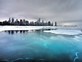 Great View from Ice on The Lake 3D HD Wallpaper at freewallpaper01