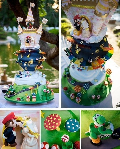 Unique Wedding Cake Ideas - Super Mario Wedding Cake