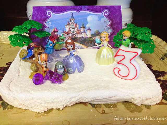Sofia the First birthday marshmallow cake