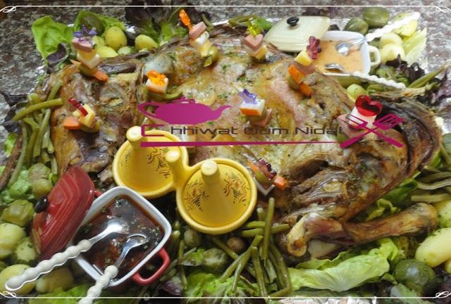 لحم الغنمي مشري و مقدم مع الخضر مبخرة 1.jpg