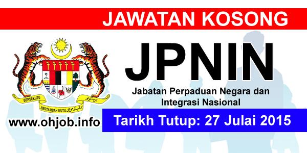 Jawatan Kerja Kosong Jabatan Perpaduan Negara dan Integrasi Nasional (JPNIN) logo www.ohjob.ingo julai 2015