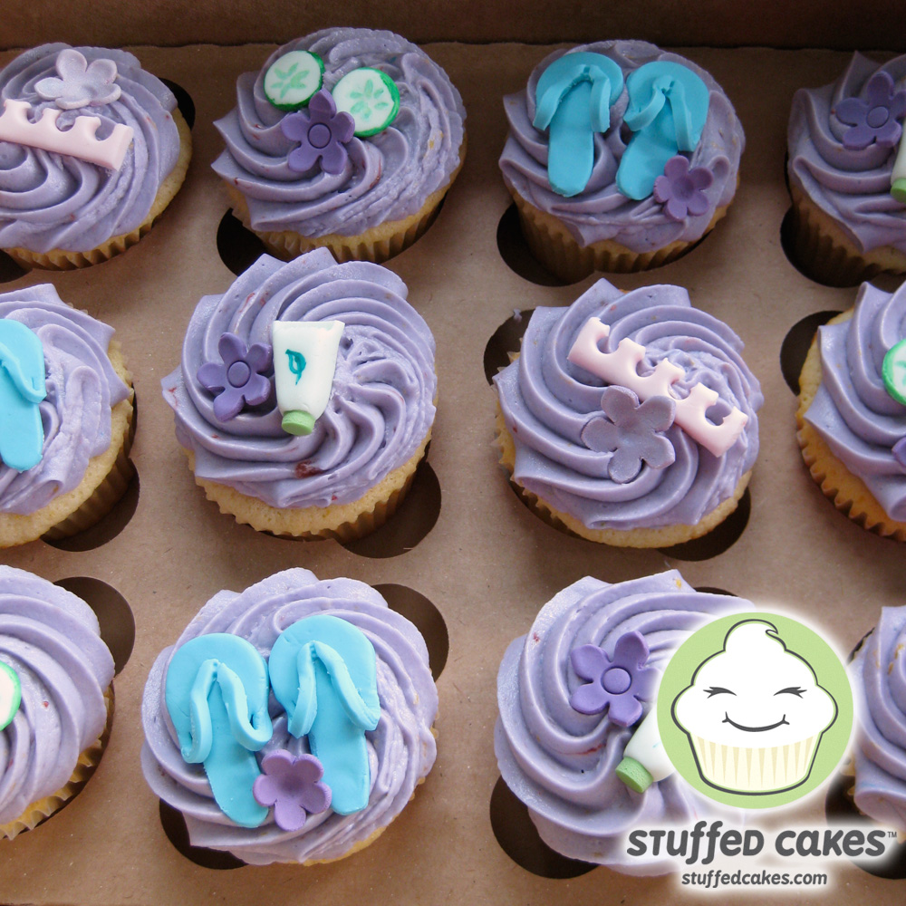 Stuffed Cakes Spa Party Cupcakes