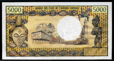 500 Pesetas Octubre 1940 - Página 2 Cameroon+money+5000+Francs+banknote