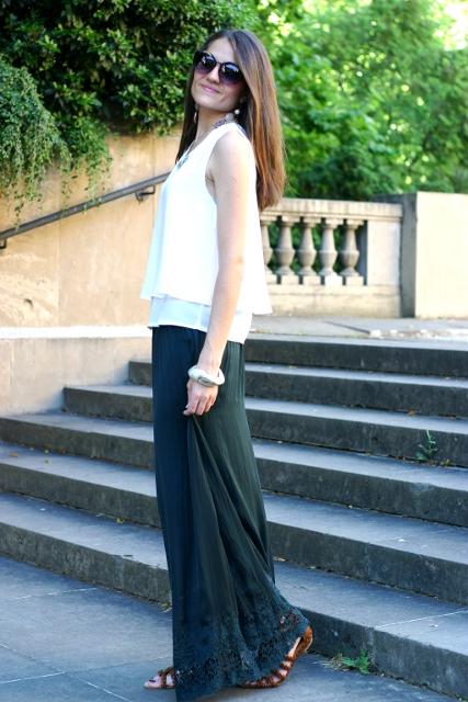Maxi falda y blusa joya